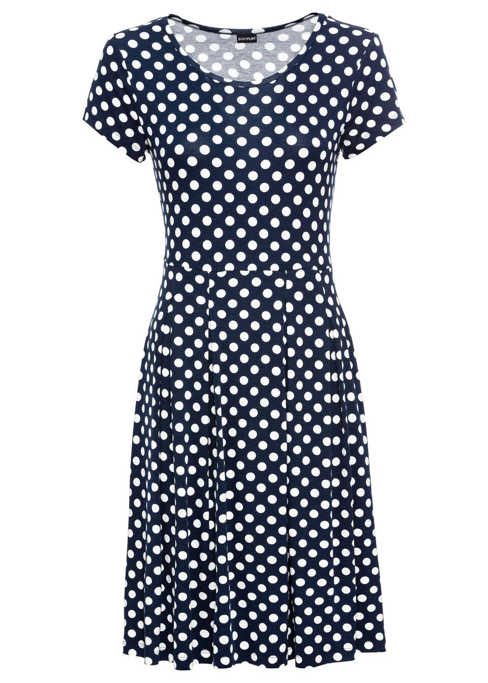 Sukienka z dżerseju bonprix Sukienka shirt dżer c.n-b.w