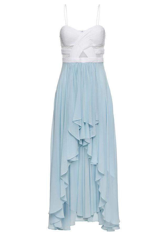 53fc88426e Vokuhila ruha szív alakú nyakkivágással fehér/jégkék • 16999.0 Ft • bonprix