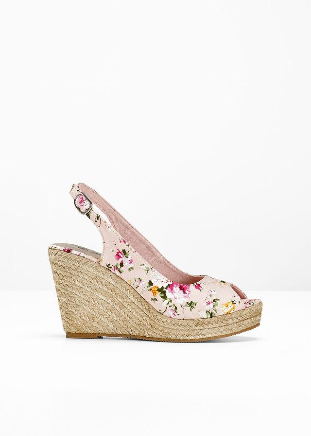 9175a936725d0 Sandále s otvorenou špičkou cyklámenová kvetovaná • 16.99 € • bonprix
