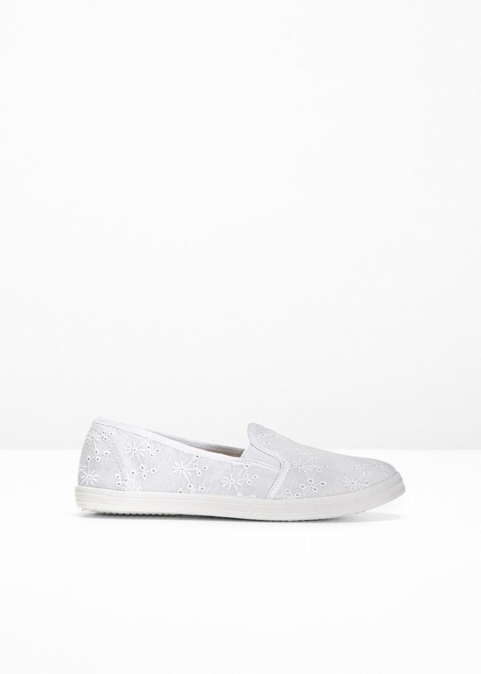 Buty wsuwane bonprix Buty wsuwane biały