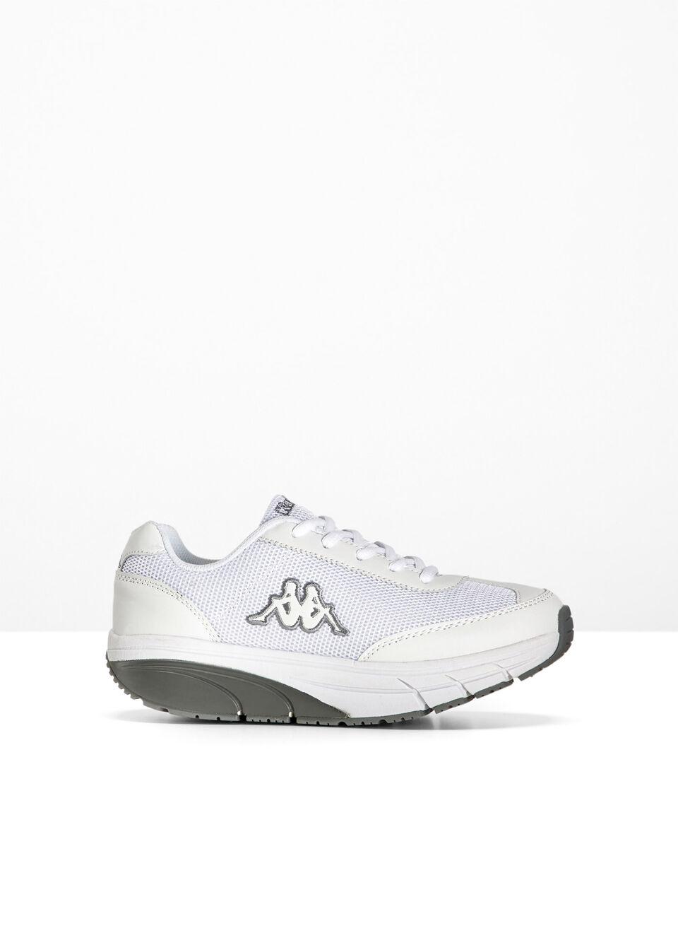 Sneakersy Kappa bonprix biało-szary