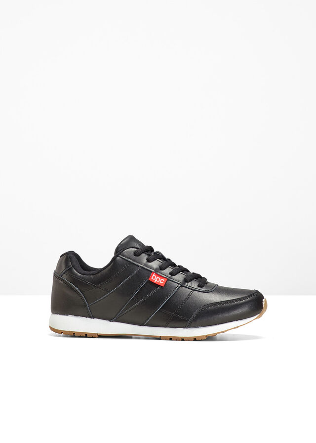 Kožené tenisky čierna Funkčná a moderná • 24.99 € • bonprix 62e6d34fe2e