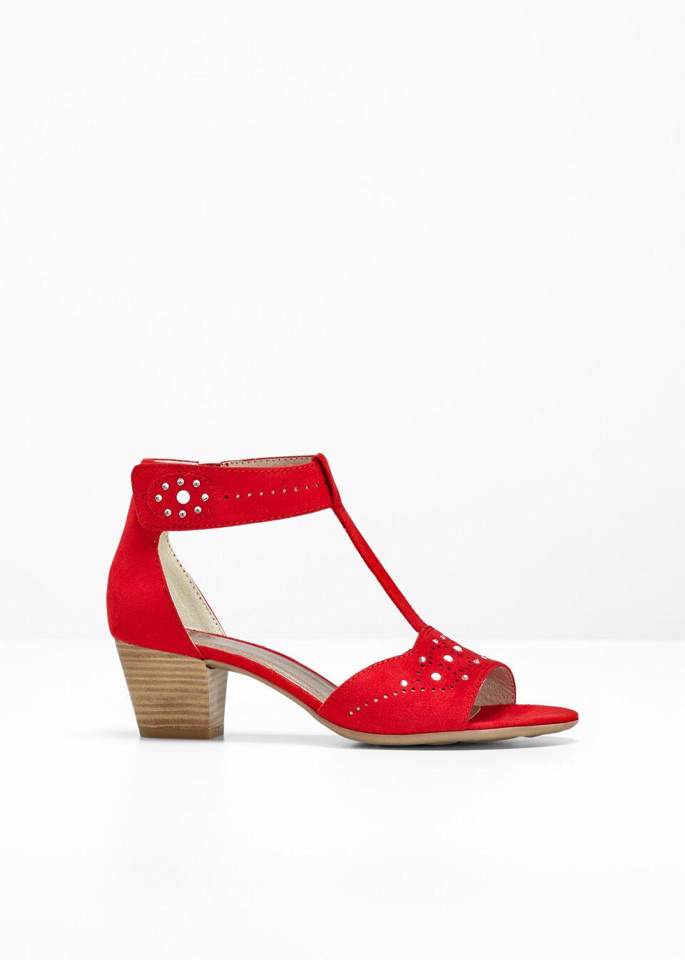Wygodne sandały Jana, tęgość H bonprix czerwony