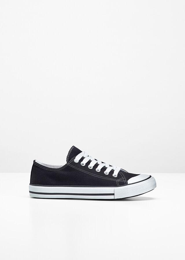 Wysokie sneakersy czarny bonprix Buty sportowe damskie czarne w Bonprix