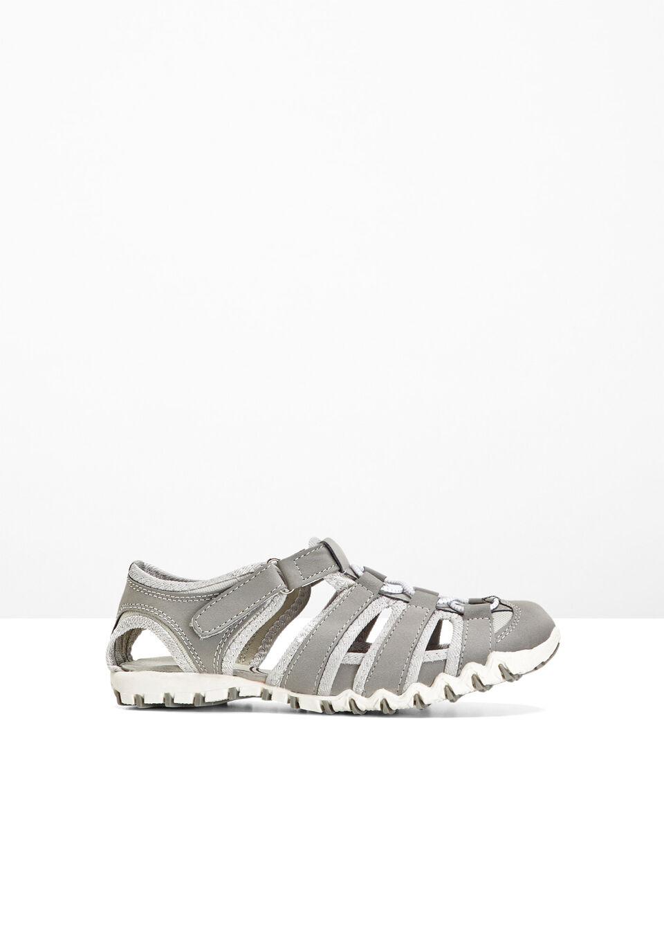 Sandały bonprix jasnoszary