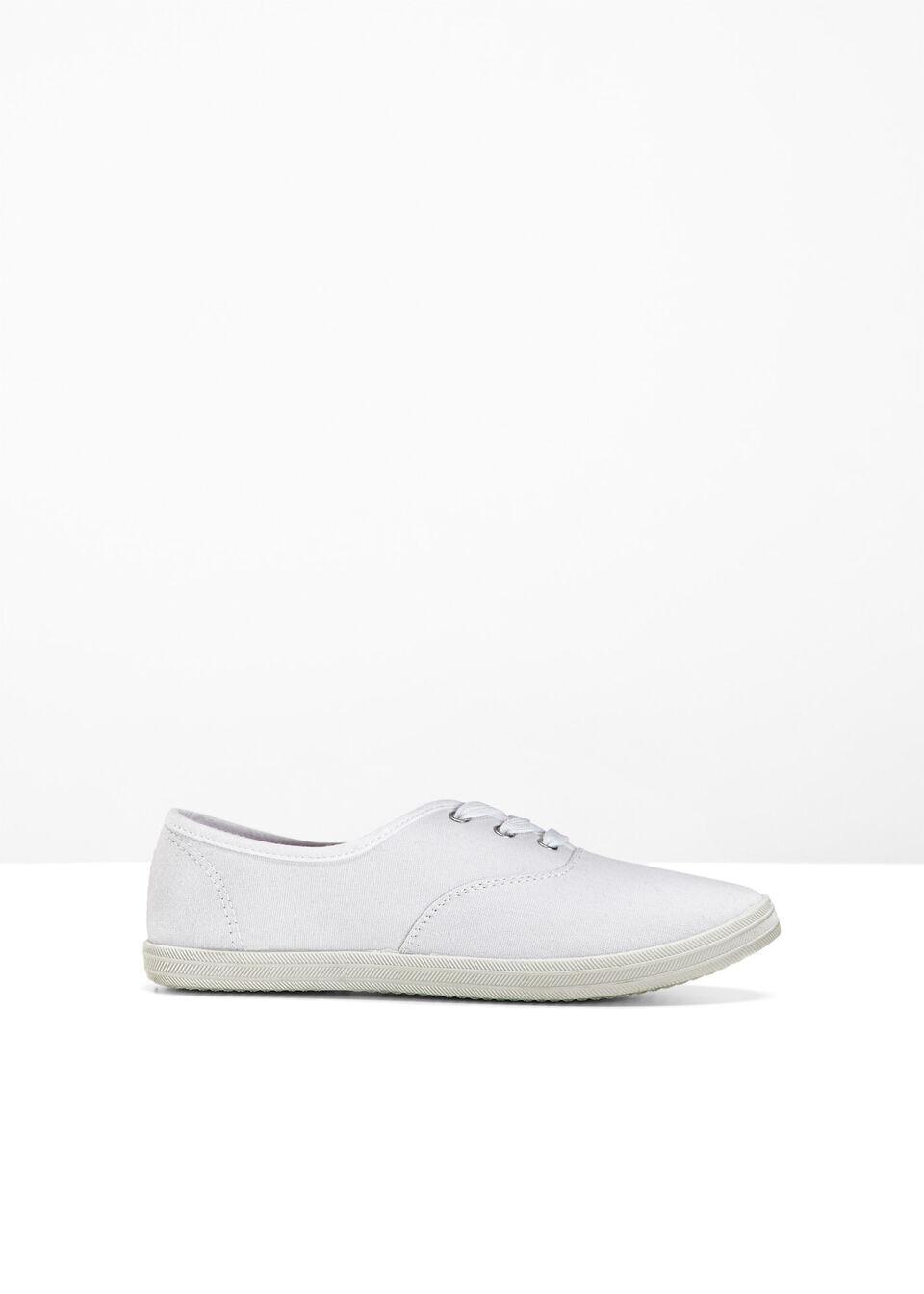Sneakersy bonprix biały