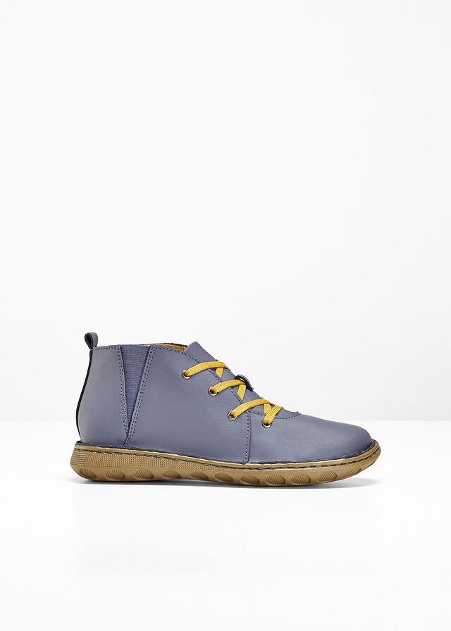 Kényelmes bőrcipő farmerkék Cipőfűzővel • 9999.0 Ft • bonprix 89e4f76239