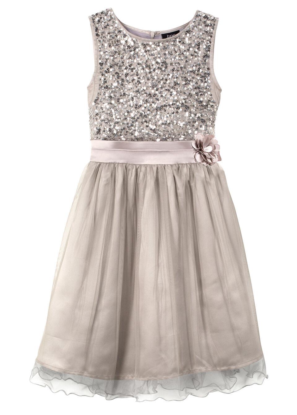 Sukienka na uroczyste okazje bonprix srebrny kolor