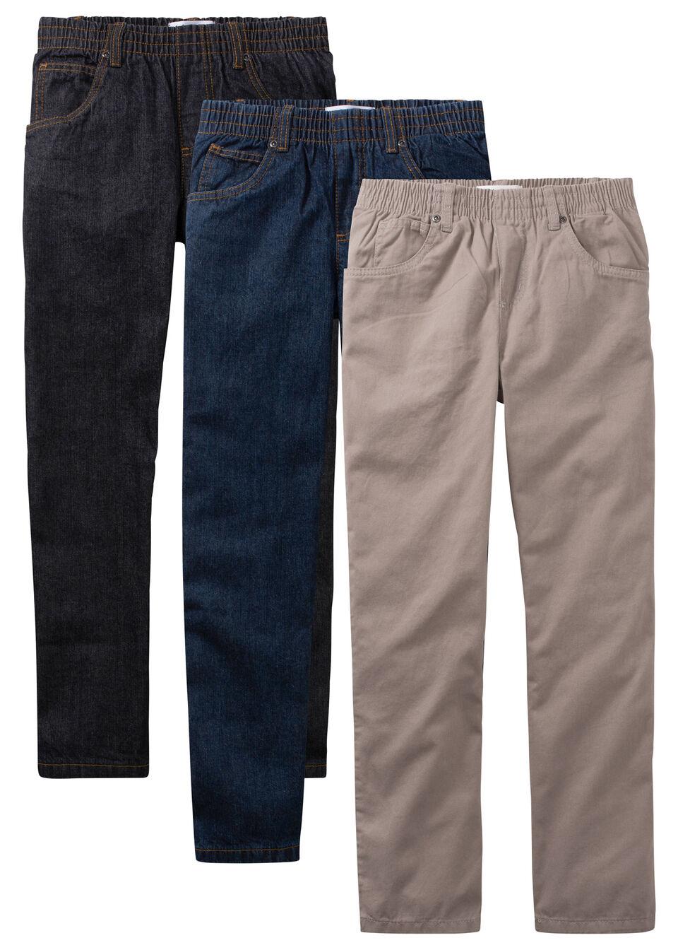 Широкие джинсы для мальчика (3 шт.) от bonprix