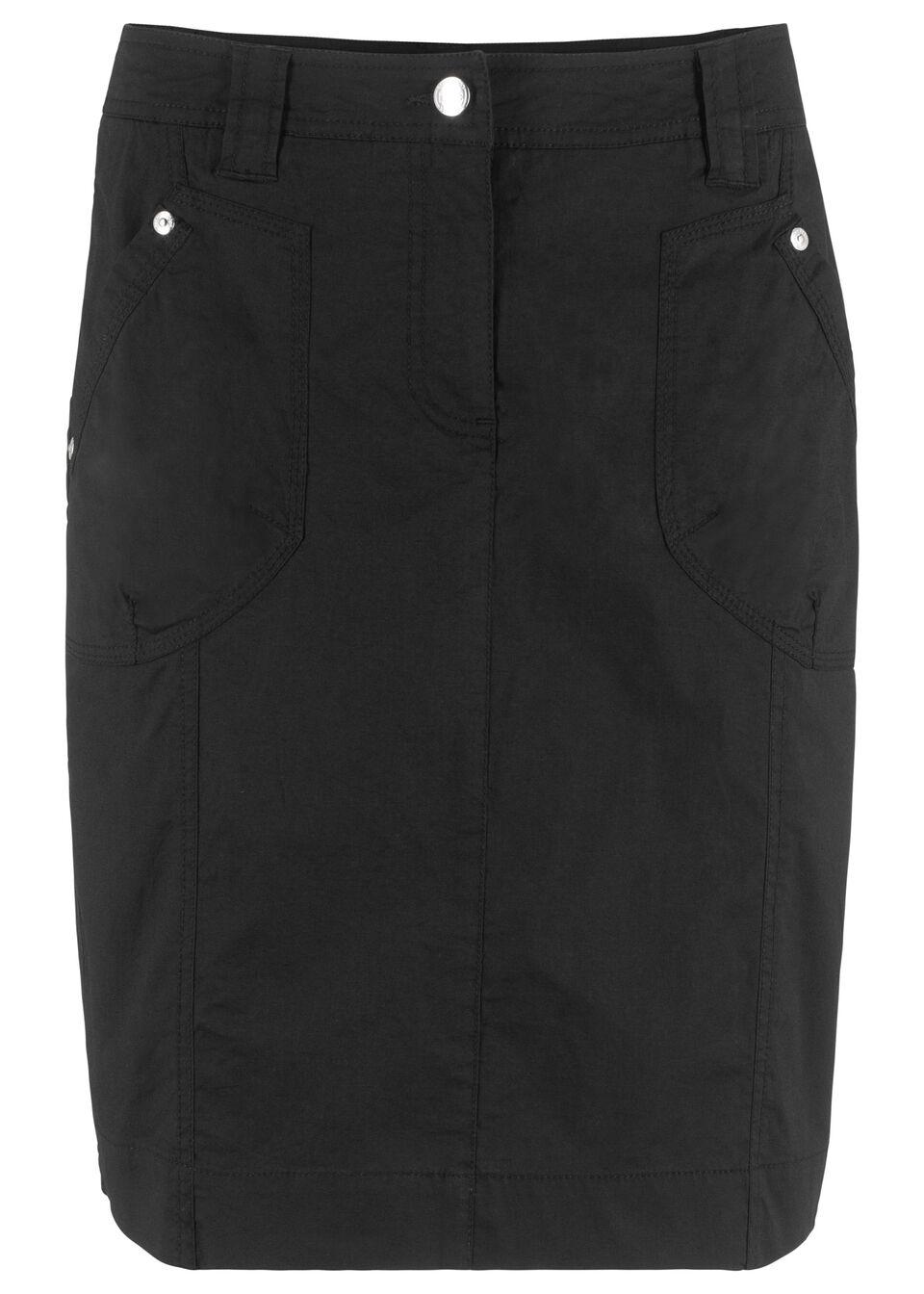 Фото - Юбку стретч в стиле карго от bonprix черного цвета