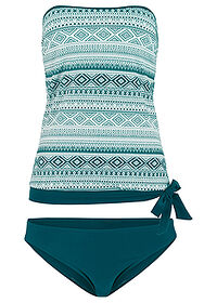 Tankini (2 piese/set) verde/alb bpc bonprix collection 0