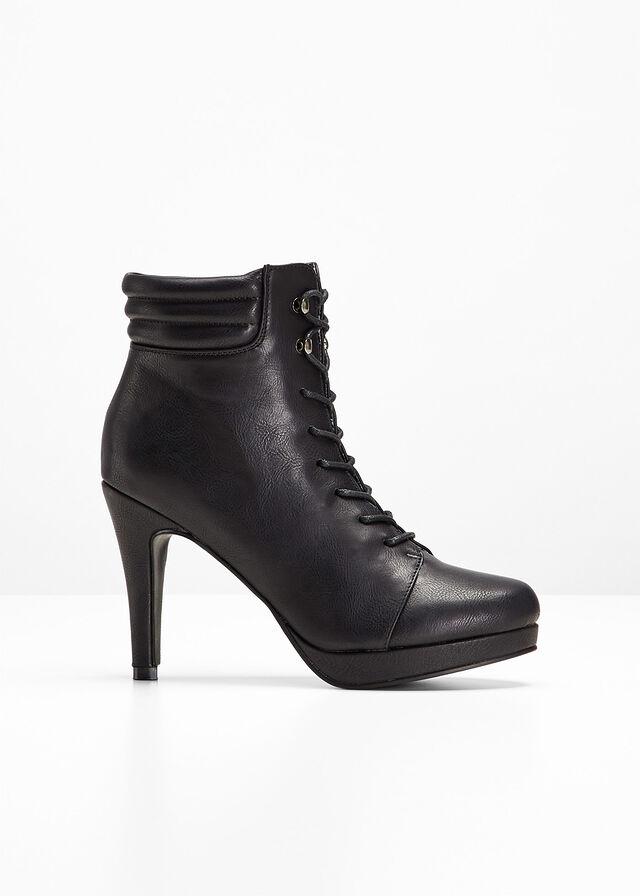 7e6dec123d Krátke čižmy čierna Vysoký podpätok s • 29.99 € • bonprix