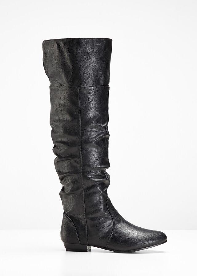 002ab68cab Čižmy - nad kolená čierna Jednoduchá • 34.99 € • bonprix