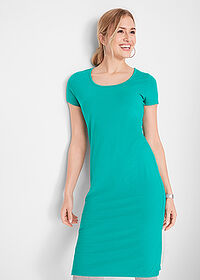 Rochie stretch verde oceanic bpc bonprix collection 1