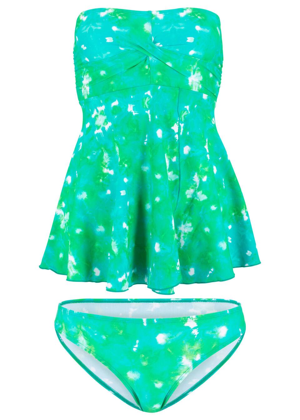 Tankini (2 części) bonprix zielony