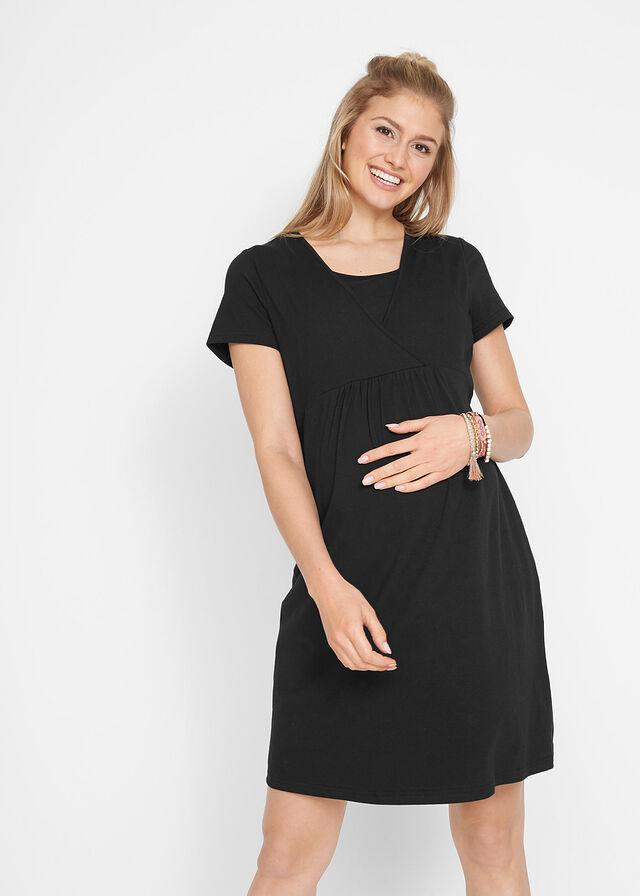 a1188eb694c5 Materské šaty šaty na dojčenie čierna • 14.99 € • bonprix