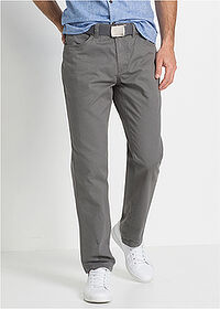 Pantaloni drepţi Regular Fit gri fumuriu bpc bonprix collection 1