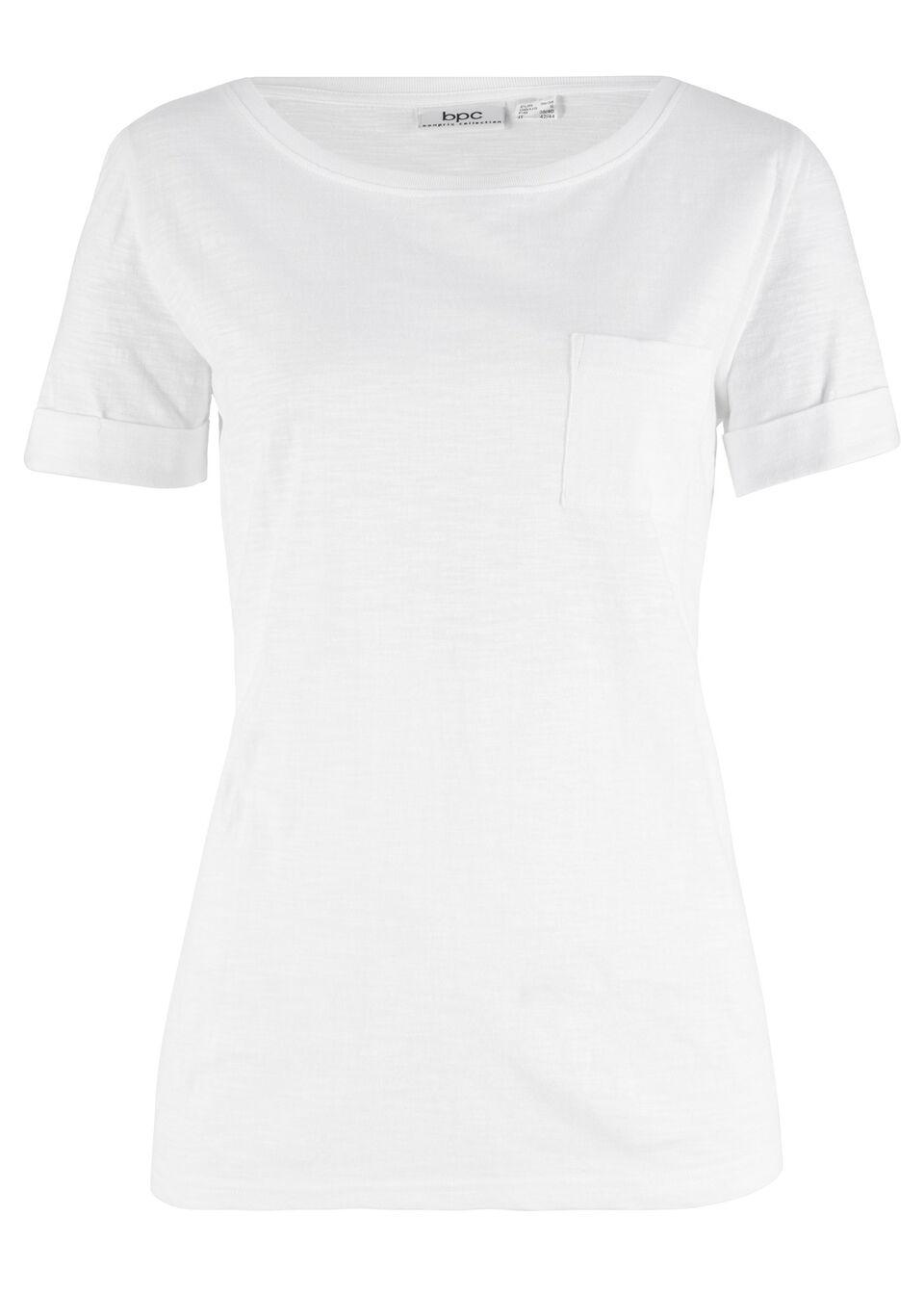 da63e6006a Pamut póló mellzsebbel matt kék Hossza kb • 2799.0 Ft • bonprix