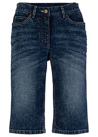 "Szorty dżinsowe ze stretchem ""used look"" ciemny denim bpc bonprix collection 0"