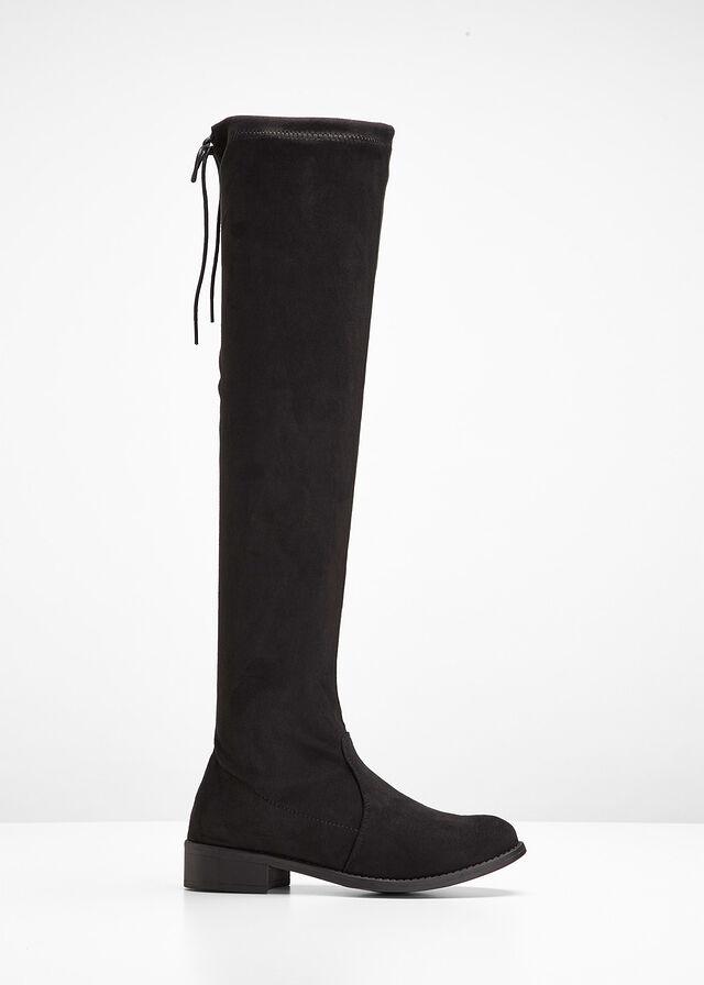 Čižmy - nad kolená čierna Vysoké čižmy • 29.99 € • bonprix bd5d3b0545b