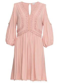 5c952839 Sukienka z wiskozy jasnoróżowy w kwiaty • 69.99 zł • bonprix