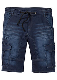 Regular Fit sztreccs farmer bermuda sötétkék denim John Baner JEANSWEAR 0