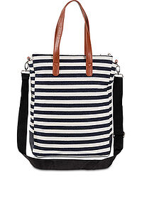 Torba shopper kobaltowy w paski bpc bonprix collection 0