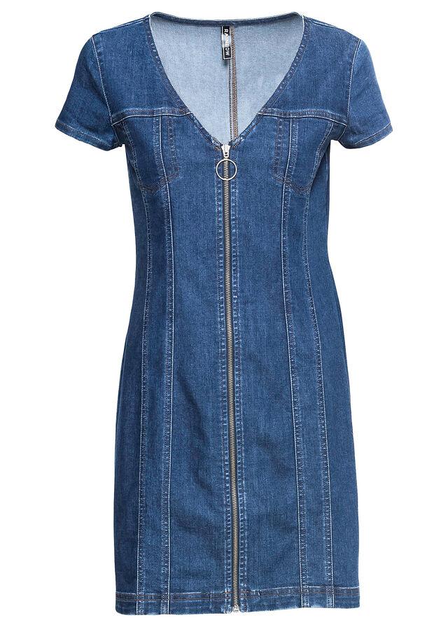 74894b338d Sukienka dżinsowa ciemnoniebieski
