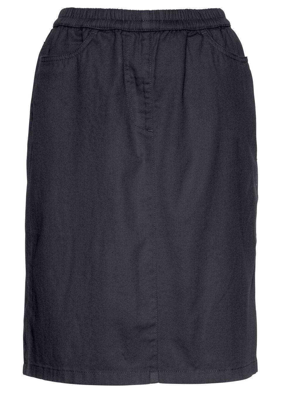 Spódnica bez zamka w talii bonprix czarny