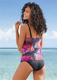 Top tankini różowo-czarny bpc bonprix collection 2