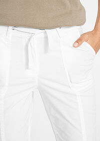 Pantaloni capri Papertouch alb bpc bonprix collection 5