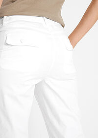 Pantaloni capri Papertouch alb bpc bonprix collection 4