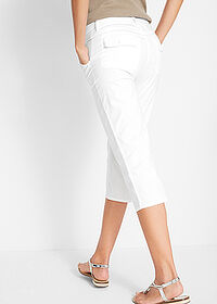 Pantaloni capri Papertouch alb bpc bonprix collection 2