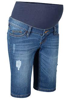 Bermudy dżinsowe ciążowe niebieski