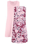Rochie din jerse (2buc/pac) mov floral + roz pal bpc bonprix collection 6