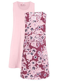 Rochie jerse (2buc/pac) mov floral+roz pal bpc bonprix collection 0