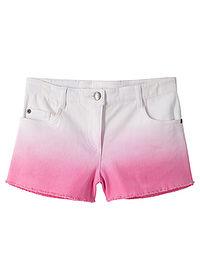 Short twill fete, cu degradeu alb-roz flamingo John Baner JEANSWEAR 0