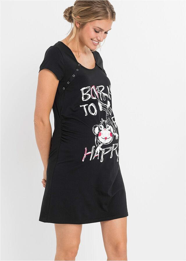 83c18c6f618922 Koszula nocna ciążowa i do karmienia czarny • 44.99 zł • bonprix