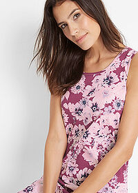 Rochie jerse (2buc/pac) mov floral+roz pal bpc bonprix collection 5