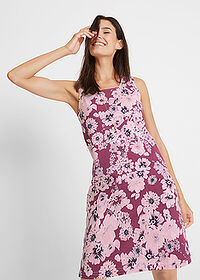 Rochie jerse (2buc/pac) mov floral+roz pal bpc bonprix collection 1