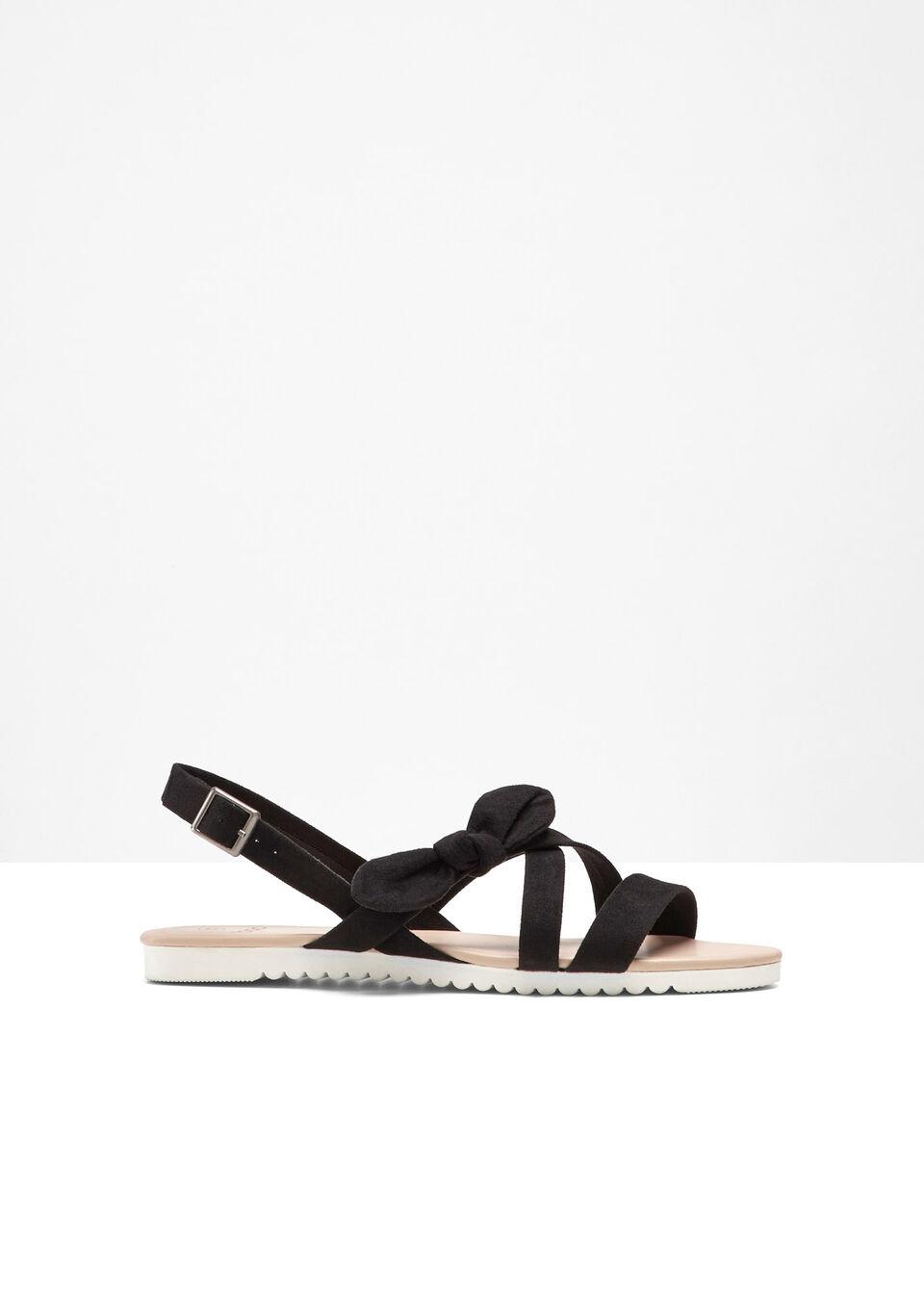 Sandały bonprix czarny