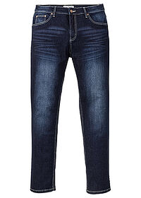Dżinsy ze stretchem Slim Fit Straight ciemny denim John Baner JEANSWEAR 0