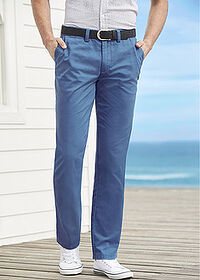 Spodnie chino Regular Fit Straight niebieski dżins bpc bonprix collection 6