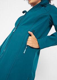 Płaszcz funkcyjny softshell bonprix ciemnoniebieski