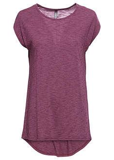 Długi shirt jeżynowo-kolorowy W modnym