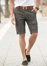 Cargo-bermuda Loose Fit fekete bpc selection 6