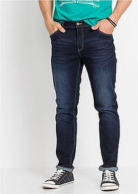 Dżinsy ze stretchem Slim Fit Straight ciemny denim John Baner JEANSWEAR 1