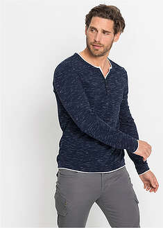 "Shirt z dekoltem ""henley"" 2 w 1 bpc bonprix collection 13"