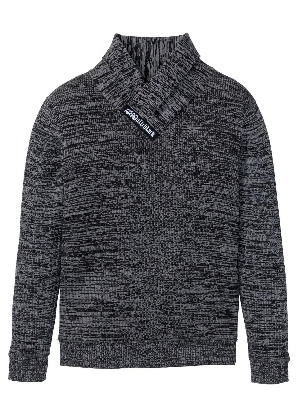 Пуловер с шалевым воротником от bonprix