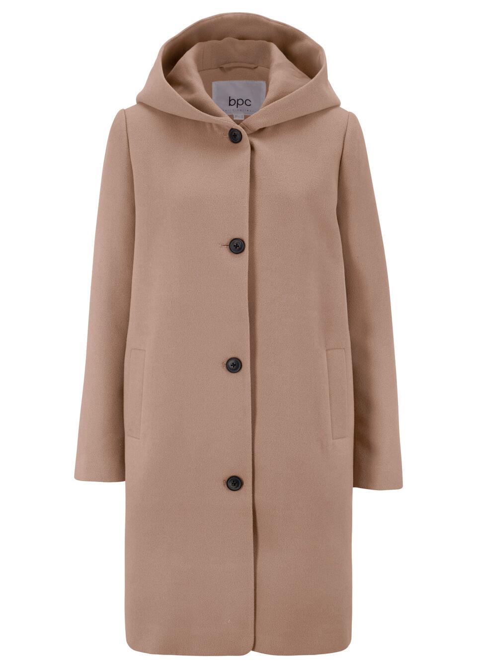 Купить Куртки и плащи, Полупальто с капюшоном, bonprix, серо-коричневый
